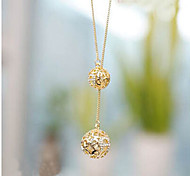 cheap -Women's Imitation Diamond Pendant Necklace - Screen Color Necklace For