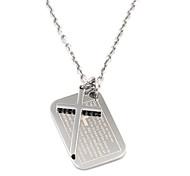 Недорогие -марочных мужской серебряный крест писание ожерелье нержавеющей стали 316l