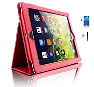 cheap -Case For iPad 4/3/2 iPad Air 2 iPad Air with Stand Auto Sleep / Wake Full Body Cases Solid Color PU Leather for iPad 4/3/2 iPad Air iPad