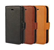 YMX Solid color Crystal Surface PU Leather Full Body Cover with Card Slot for iPhone 4/4S(Assorted Color)