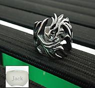 Недорогие -подарок на день ювелирных изделий Персонализированные отца из нержавеющей стали Форма дракон серебряные мужские кольца