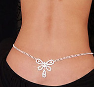cheap -Imitation Diamond Belly Chain Body Chain - Women's White Unique Design Sexy Fashion Others Bowknot Body Jewelry For Christmas Gifts Daily