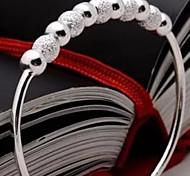 Браслеты Браслет разомкнутое кольцо Стерлинговое серебро Свадьба / Для вечеринок / Повседневные Бижутерия Подарок Серебряный,1шт