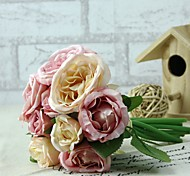 "1 Branch Silk / Plastic Peonies Tabletop Flower Artificial Flowers (5.9""X 10.23"")"