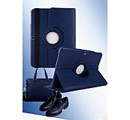 Недорогие -Для Кейс для  Samsung Galaxy со стендом / Флип / Поворот на 360° Кейс для Чехол Кейс для Один цвет Искусственная кожа Samsung Tab 3 8.0