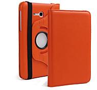 Для Кейс для  Samsung Galaxy со стендом / Флип / Поворот на 360° Кейс для Чехол Кейс для Один цвет Искусственная кожа Samsung Tab 3 10.1