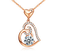 cheap -Women's Crystal Imitation Diamond Pendant Necklace - Vintage Cute Party Work Casual Love Birthstones Necklace For Party