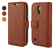 Crystal Surface PU Leather Full Body Case with Stand and Card Slot for Samsung Galaxy S4 Mini I9190(Assorted Color)