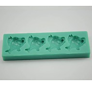 economico -pesce pagliaccio strumenti a forma di torta fondente del silicone della muffa del cioccolato della muffa / decorazione per la cucina di