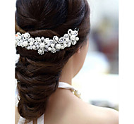 cheap -Flower Shape Pearl Hair Flower Bride Hair Wedding Headdress Wedding Accessories One Piece