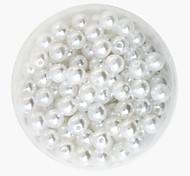beadia 64g (приблизительно 300pcs) абс жемчуг 8мм круглый белый цвет пластиковых свободные шарики DIY аксессуары