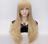 70см стиль естественно прямые женской моды парики партии тепла противостоять synhtetic косплей костюм парик блондинка