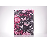 Pink Butterfly PU Leather Full Body TPU Case with Card Holder for Ipad 2/ Ipad 3/Ipad 4