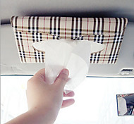 Car sun visor Tissue box Auto accessories holder Paper napkin clip- PU leather Case