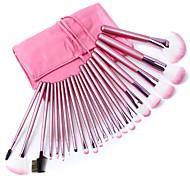 cheap -Fashion Durable 22pcs Makeup Brush Professional Cosmetic Set with Bag Fashion Pink