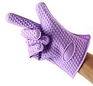 Недорогие -1шт силиконовые рукавицы печь защитные перчатки выпечки инструменты (случайный цвет)