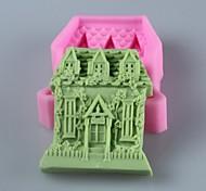 molde casa sabão em forma molde do bolo fondant de chocolate silicone, ferramentas de decoração bakeware