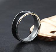 Z&X® Men's Party/Casual Fashion Simple Titanium Steel Rings Elegant Style