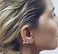 cheap -Women's Star Stud Earrings Ear Cuffs - Fashion Simple Style Star For Wedding Party Daily Casual