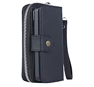cheap -Case For Apple iPhone X iPhone 8 iPhone 5 Case Card Holder Wallet Pouch Bag Solid Color Hard PU Leather for iPhone X iPhone 8 Plus iPhone