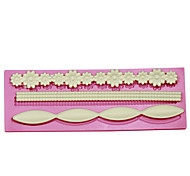 economico -fiore lungo confine della torta della muffa di cottura della torta del fondente choclate caramelle decorazione della torta muffa mestiere