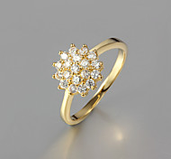cheap -Women's Statement Ring Golden Gold Plated Fashion Wedding Party Daily Casual Costume Jewelry
