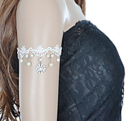 Fashion Lace Inlay Diamond Flower Pearl Bracelet