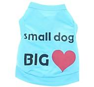 Недорогие -Кошка Собака Футболка Одежда для собак На каждый день Праздник С сердцем Буквы и цифры Синий Розовый Костюм Для домашних животных