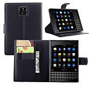 cheap -Case For BlackBerry BlackBerry Case Card Holder Wallet with Stand Flip Full Body Cases Solid Color Hard PU Leather for