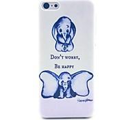 Недорогие -не волнуйтесь быть счастливым слон шаблон жесткий чехол для iPhone 5с