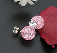 Women's Stud Earrings Crystal Fashion European Costume Jewelry Rhinestone Gold Plated 18K gold Imitation Diamond Austria Crystal Jewelry