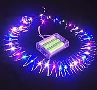 Недорогие -16,5 футов 50 главе погружной провода аккумулятора питание строку фея света украшение партии