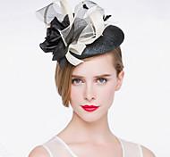 baratos -Capacete Chapéus Casamento/Ocasião Especial Linho Mulheres Casamento/Ocasião Especial 1 Peça