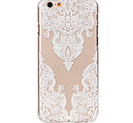 For iPhone 6 Case / iPhone 6 Plus Case Ultra-thin / Transparent / Pattern Case Back Cover Case Lace Printing Hard PCiPhone 6s Plus/6 Plus