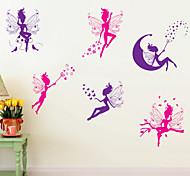 pegatinas de pared de estilo calcomanías de pared pegatinas de dibujos animados espíritu pvc