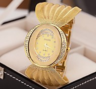 cheap -Women's Quartz Wrist Watch Imitation Diamond Alloy Band Sparkle Dress Watch Fashion Silver Brown Gold