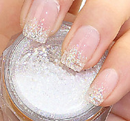 Flicker White Glitter Powder Nail Art Decorations