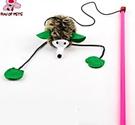 Cat Toy Pet Toys Teaser Feather Toy Hedgehog Textile For Pets