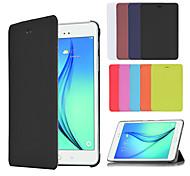 Pour Samsung Galaxy Coque Avec Support Clapet Origami Coque Coque Intégrale Coque Couleur Pleine Cuir PU pour Samsung Tab A 9.7 Tab A 8.0