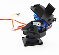 cheap -2-Axis FPV Camera Cradle Head w/ 9g Dual Servo / Steering Gear for Robot / R/C Car - Black + Blue