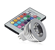 5pcs 3W MR16 LED Stage Lights MR16 High Power LED 250lm RGB Dimmable Remote-Controlled Decorative DC12V
