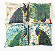 Peacock Decorative Pillow Cover(17*17 inch)