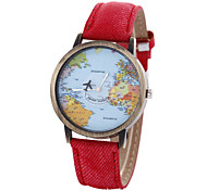Unisex Watch Women's Watch Map Watch Strap Movement Strap Watch Cool Watches Unique Watches Fashion Watch