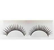 1 Cílios Pestana Tiras Completas de Cílios Olhos A extremidade é mais longa Fabrico à Máquina Fibra Banda Preta 0.05mm 12mm