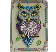 For Samsung Galaxy Case Wallet / Card Holder / with Stand / Flip / Pattern Case Full Body Case Owl PU Leather SamsungTab 4 10.1 / Tab 4