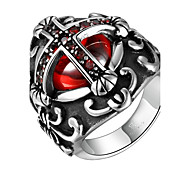 cheap -Men's Ring AAA Cubic Zirconia Fashion Stainless Steel Zircon Cubic Zirconia Titanium Steel Silver Plated Costume Jewelry Daily Casual