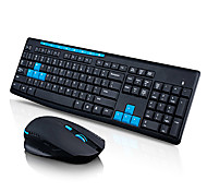 cheap -Qisan x1000 Wireless 2.4G Gaming Keyboard and Mouse Kit