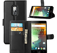 cheap -Case For OnePlus One Plus 3 One Plus OnePlus Case Card Holder Wallet with Stand Flip Full Body Cases Solid Color Hard PU Leather for One