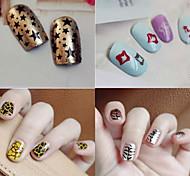 Недорогие -1 3D-акриловые формы для ногтей Шаблон шаблона для ногтей Повседневные Цветы Абстракция Мультяшная тематика Мода Милый Свадьба Панк