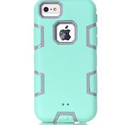 светло-зеленый силиконовый шт тройной случай телефон iPhone 5с (ассорти цветов)
